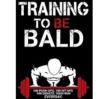 Training to be bald one punch man manga cosplay anime t shirt  Photographic Print