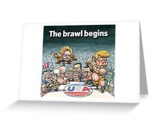 The brawl begins Greeting Card