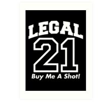 legal shot Art Print
