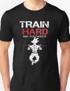 DragonBall Z GokuTrain Hard No Excuses  Training To Go Super Saiyan It's Over 9000 Train Insaiyan Or Remain The Same Anime Cosplay Gym T Shirt T-Shirt