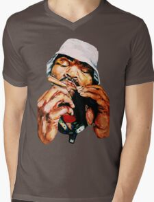 Blunted Method Man Mens V-Neck T-Shirt