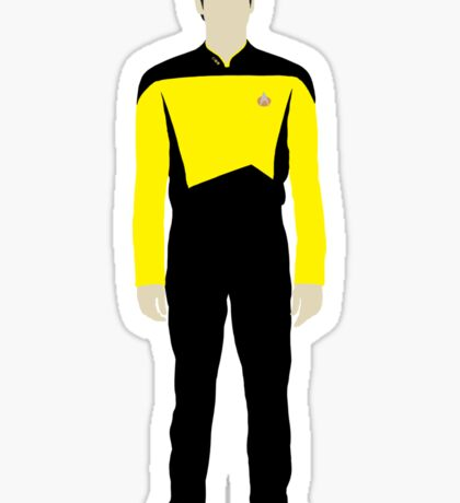 Star Trek - Minimalist Data Sticker