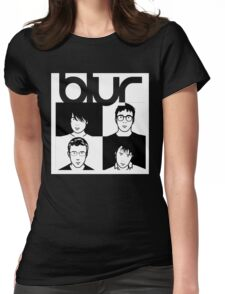 Blur band Womens Fitted T-Shirt
