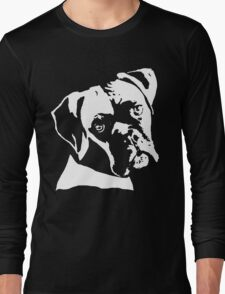 Boxer Dog Pillow Long Sleeve T-Shirt