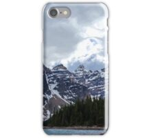 Moraine Lake Nestled In The Valley Of The Ten Peaks - Banff National Park iPhone Case/Skin