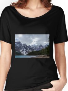 Moraine Lake Nestled In The Valley Of The Ten Peaks - Banff National Park Women's Relaxed Fit T-Shirt