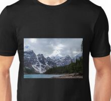 Moraine Lake Nestled In The Valley Of The Ten Peaks - Banff National Park Unisex T-Shirt