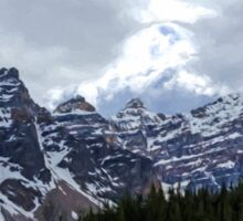 Moraine Lake Nestled In The Valley Of The Ten Peaks - Banff National Park Sticker