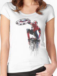 Spider Man Civil War Women's Fitted Scoop T-Shirt