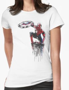 Spider Man Civil War Womens Fitted T-Shirt