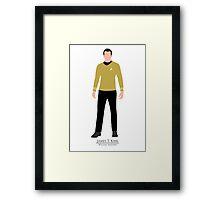 Star Trek - Minimalist Kirk Framed Print