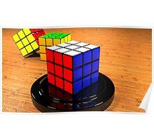 3D Rubiks Cube Poster