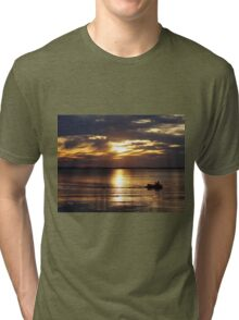 As the sun sets on your yesterdays, may each sunrise fill you with renewed energy giving you faith in your tomorrows. Tri-blend T-Shirt