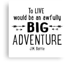 Live is A Big Adventure Canvas Print
