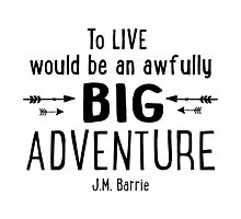 Live is A Big Adventure Photographic Print
