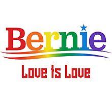 Bernie Rainbow - Love Is Love Photographic Print