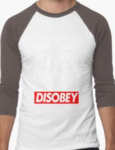 Disobey Men's Baseball ¾ T-Shirt