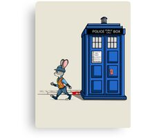 The Tardis Gets A Ticket Canvas Print