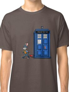 The Tardis Gets A Ticket Classic T-Shirt