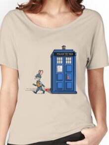 The Tardis Gets A Ticket Women's Relaxed Fit T-Shirt