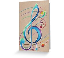 Colorful Notes Greeting Card