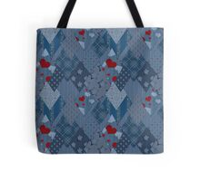 Seamless jeans denim patchwork Tote Bag