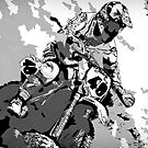 Motocross Dirt-Bike Championship Racer  by NaturePrints