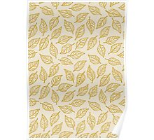 Light Leaf Pattern - Yellow Poster
