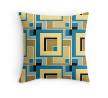 Abstract modern squares seamless pattern retro colors Throw Pillow