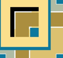 Abstract modern squares seamless pattern retro colors Sticker