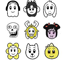 Undertale - Funny Faces Photographic Print