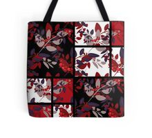 Patchwork retro autumn rowanberry pattern texture Tote Bag