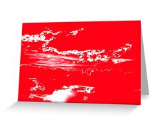 Sunset & Clouds in Red and White Greeting Card