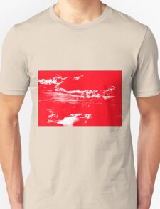 Sunset & Clouds in Red and White T-Shirt