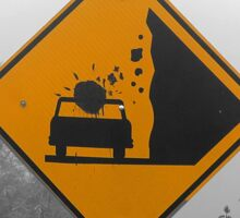 Caution: Falling Rock Sticker
