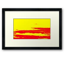 Sky and Clouds in Psychedelic Yellow and Red Framed Print