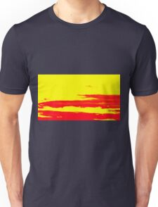 Sky and Clouds in Psychedelic Yellow and Red Unisex T-Shirt