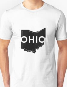 Bold Ohio Outline - Black Unisex T-Shirt