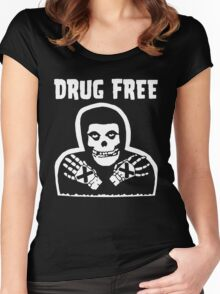 Drug Free Women's Fitted Scoop T-Shirt