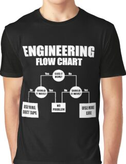 Engineers Flow Chart duct tape Graphic T-Shirt