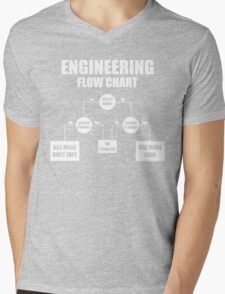 Engineers Flow Chart duct tape Mens V-Neck T-Shirt