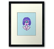 Cute Cyclop Framed Print