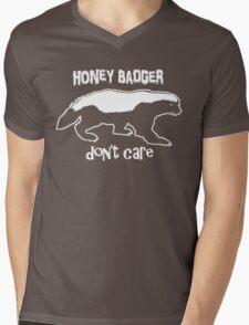Honey Badger Don't Care Mens V-Neck T-Shirt