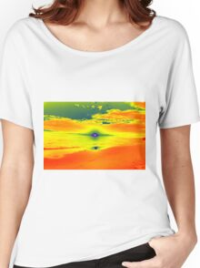 Psychedelic Sunset Women's Relaxed Fit T-Shirt