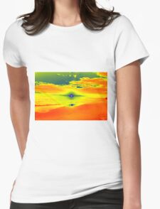 Psychedelic Sunset Womens Fitted T-Shirt