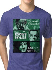 John Snow, Heisenberg, Sheldon Cooper Tri-blend T-Shirt