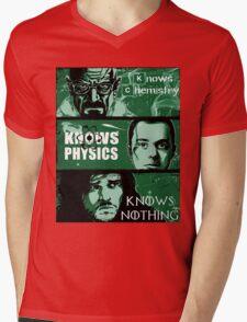 John Snow, Heisenberg, Sheldon Cooper Mens V-Neck T-Shirt