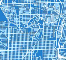 Fort Lauderdale Map - Light Blue Sticker