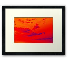 Pyschedelic Sky Colors Framed Print