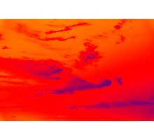 Pyschedelic Sky Colors Photographic Print